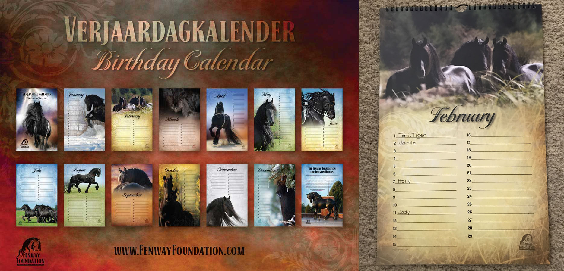 Verjaardagkalendar / Dutch Birthday Calendar.